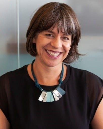 Rebecca Lawrence smiles