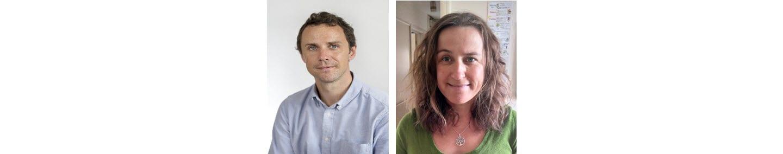 Image of Gudrun Cartwright and Peter Belk, BITC employees smiling into camera