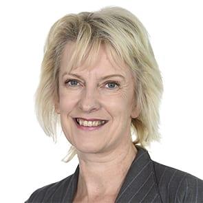Carolyn Saunders smiles